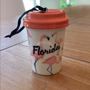 Holidays 2015 Starbucks Flamingo Florida Ornament